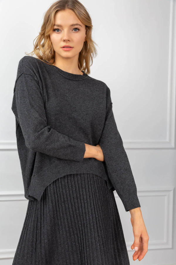 Maxine Knit Set Black in Tops by J.ING - an L.A based women's fashion line