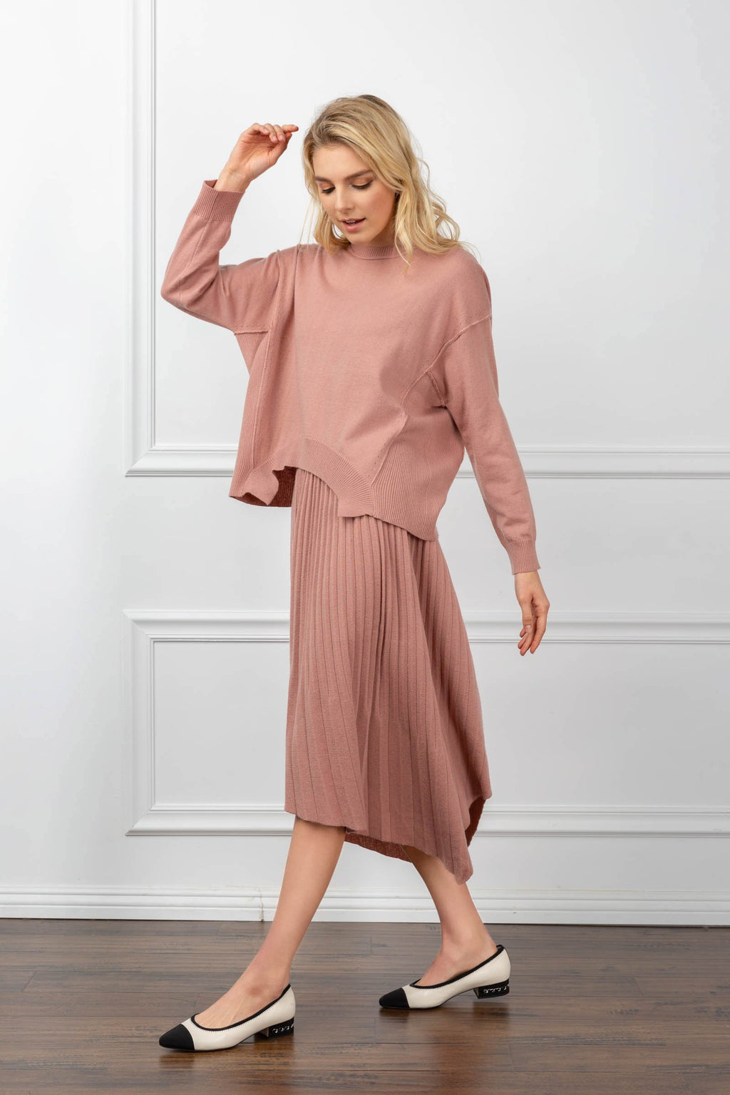 Maxine Knit Set Pink in Tops by J.ING - an L.A based women's fashion line