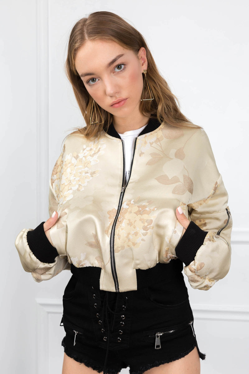 Melanie Bomber in Coats & Jackets by J.ING - an L.A based women's fashion line