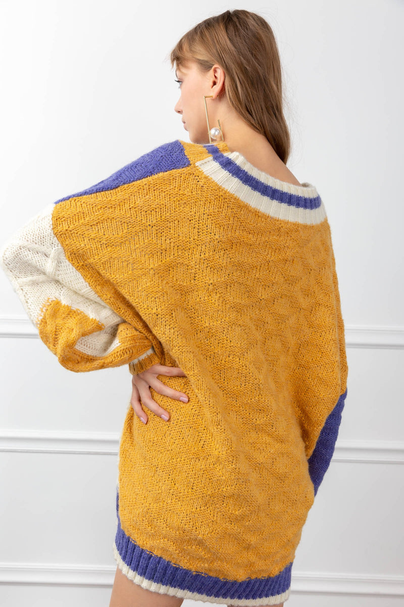 Miranda Sweater Purple in Knitwear by J.ING - an L.A based women's fashion line