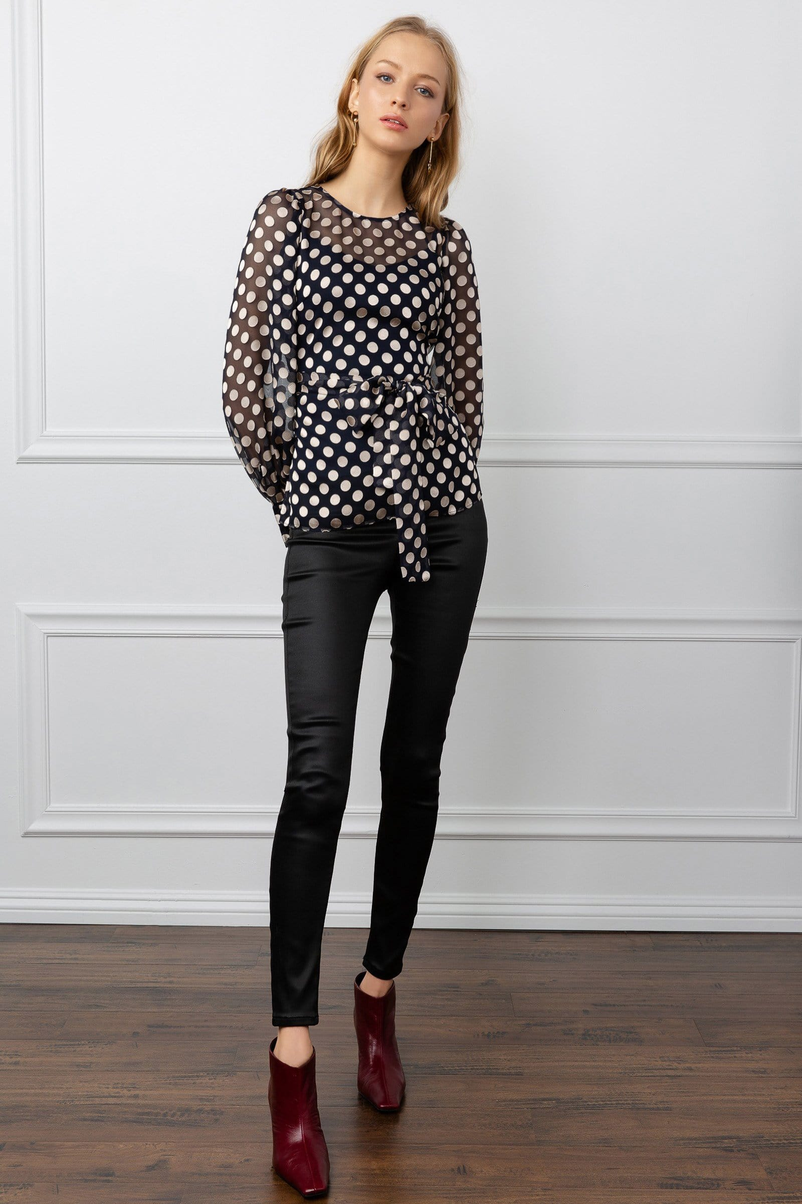 Bea Dotted Sheer Blouse