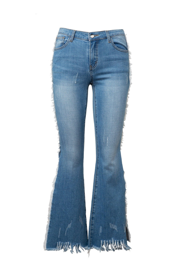 Peek Split Flared Denims