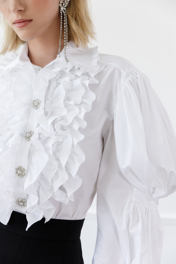 Neva Ruffle Blouse in Tops by J.ING - an L.A based women's fashion line