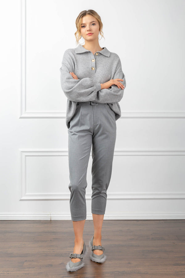 Odette Sweater Grey in Tops by J.ING - an L.A based women's fashion line
