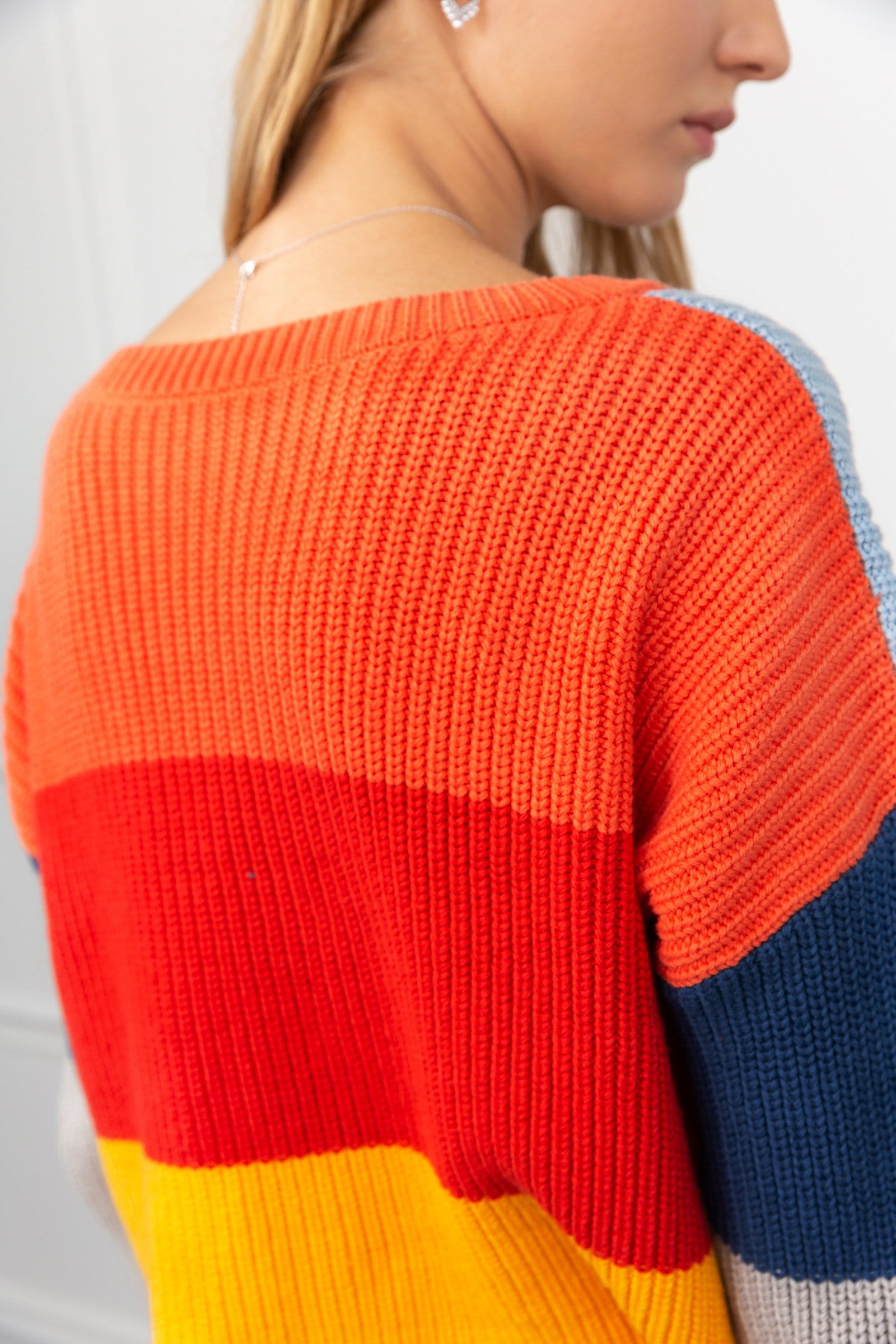 Pamela Multi Color Panel Sweater