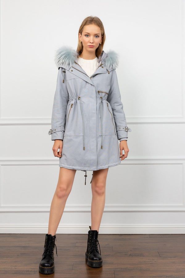 Georgie 3-in-1 Convertible Blue Grey Parka