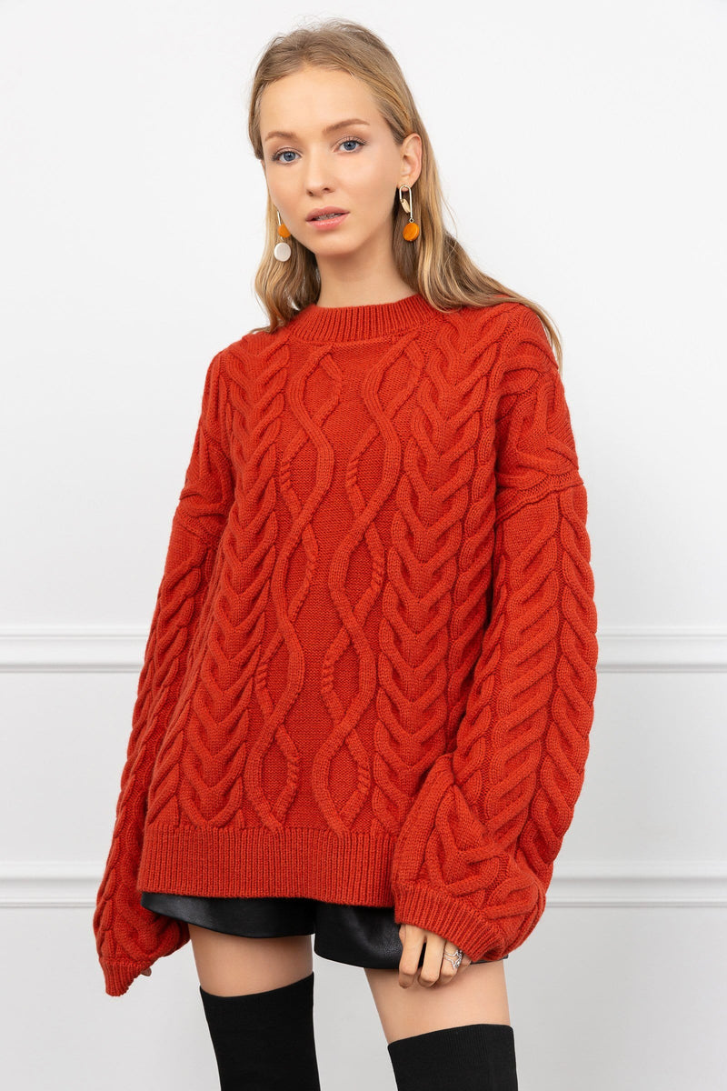 Eunice Brick Red Sweater