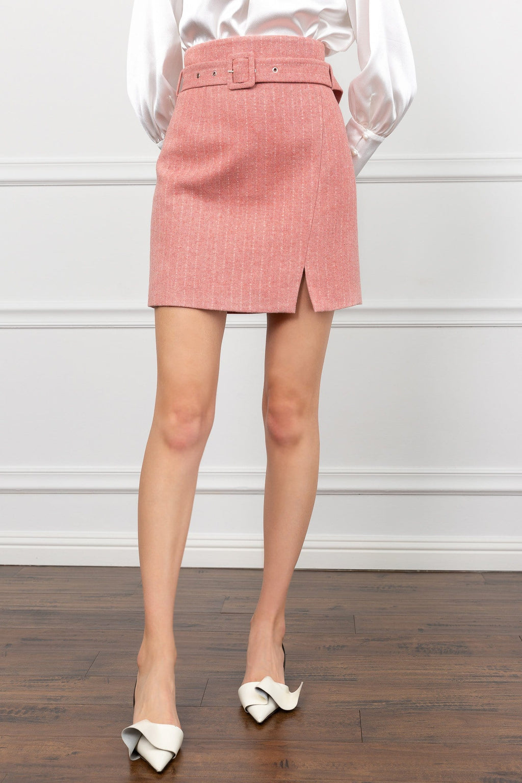 Isabelle Pink Pencil Skirt by J.ING Women's Workwear