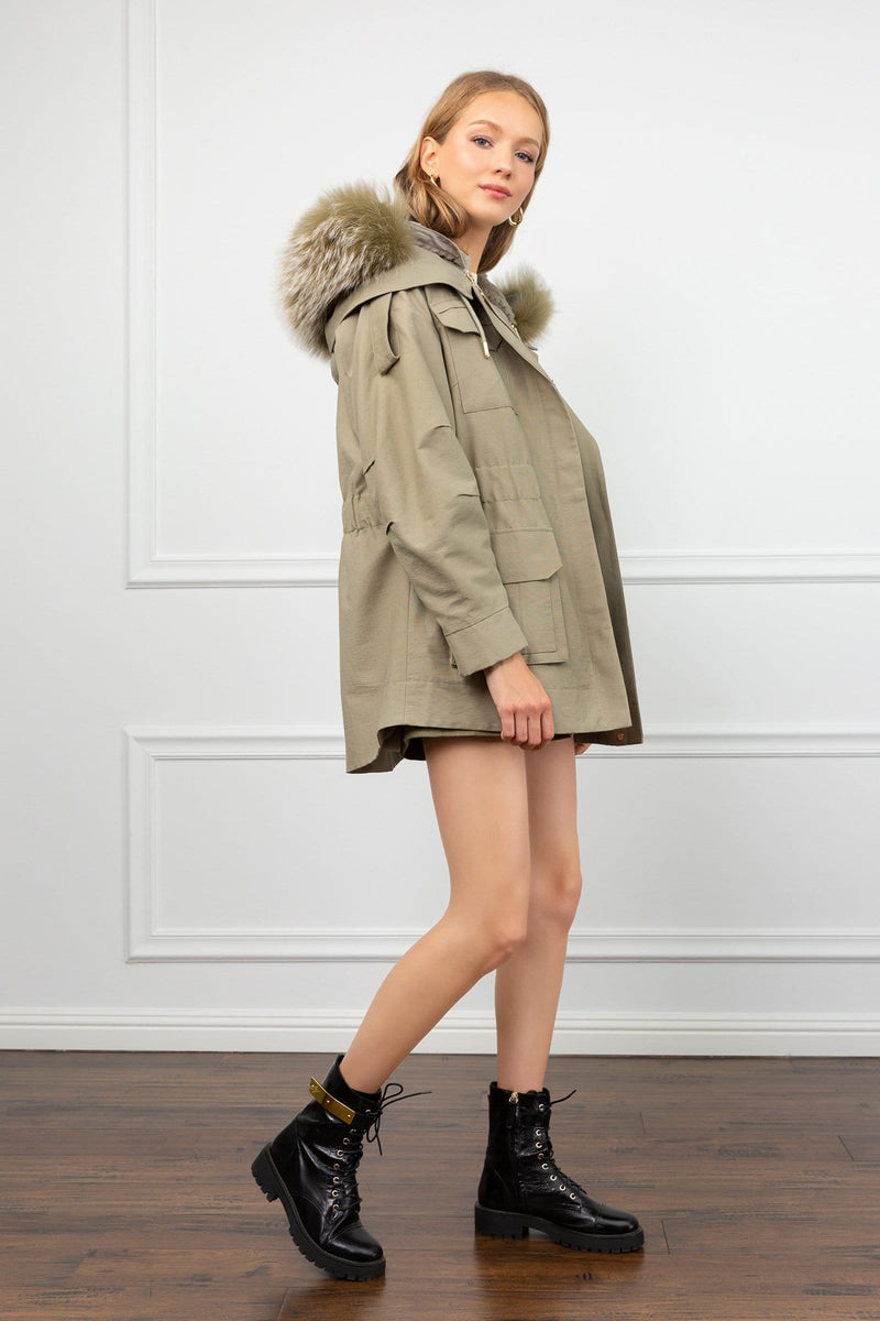 Hailey 3-in-1 Convertible Green Parka