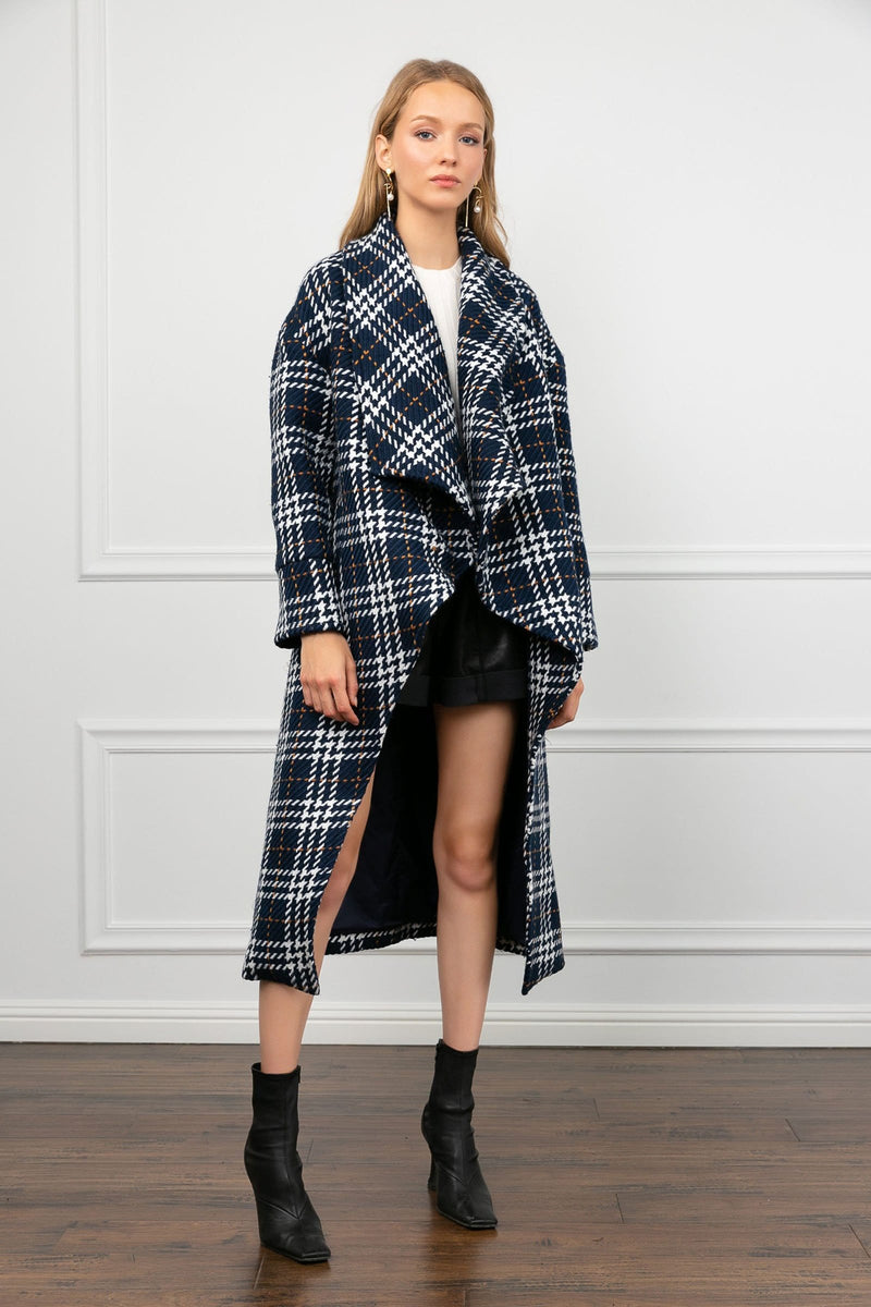 Bobby Blue Plaid Coat