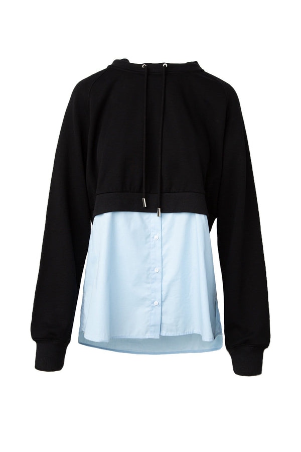 Nina Black and Blue Fusion Hoodie