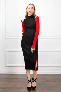 Payton Skirt Black in Knitwear by J.ING - an L.A based women's fashion line
