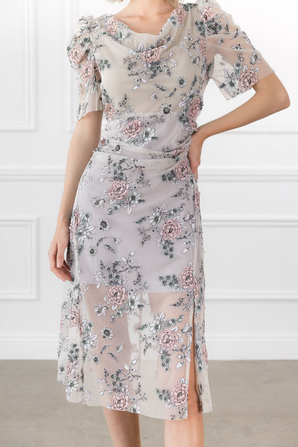 Penelope Embroidered Floral Dress in Dresses by J.ING - an L.A based women's fashion line