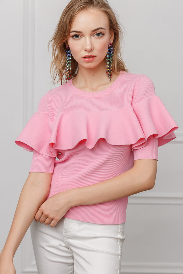 Roxanne Ruffle Blouse in Tops by J.ING - an L.A based women's fashion line