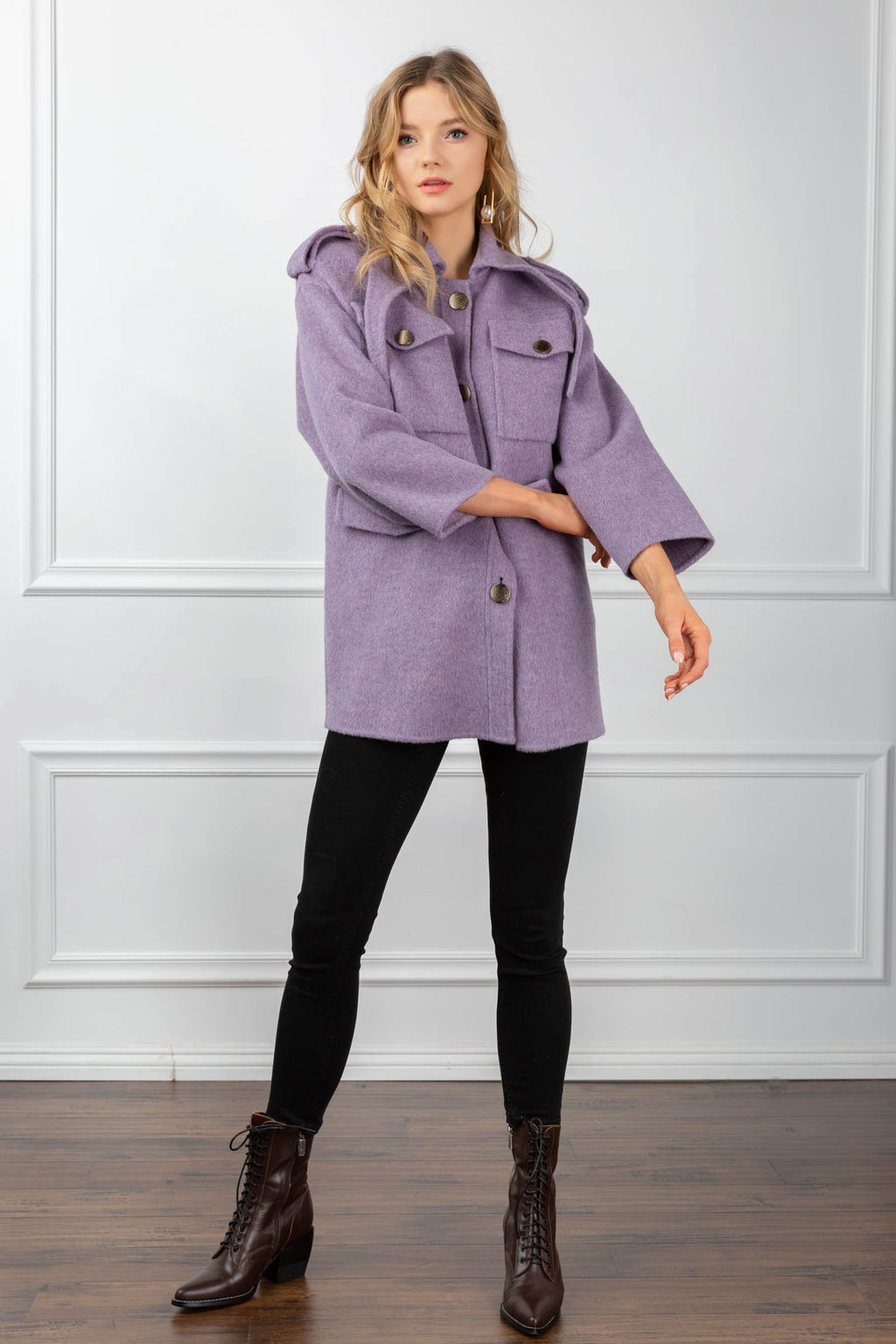 Saige Coat Purple