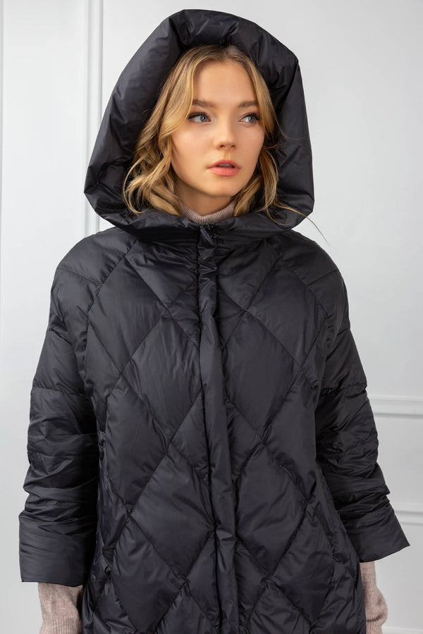 Shelby Quilted Coat Black
