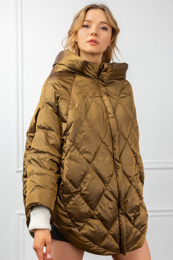 Shelby Quilted Coat Gold