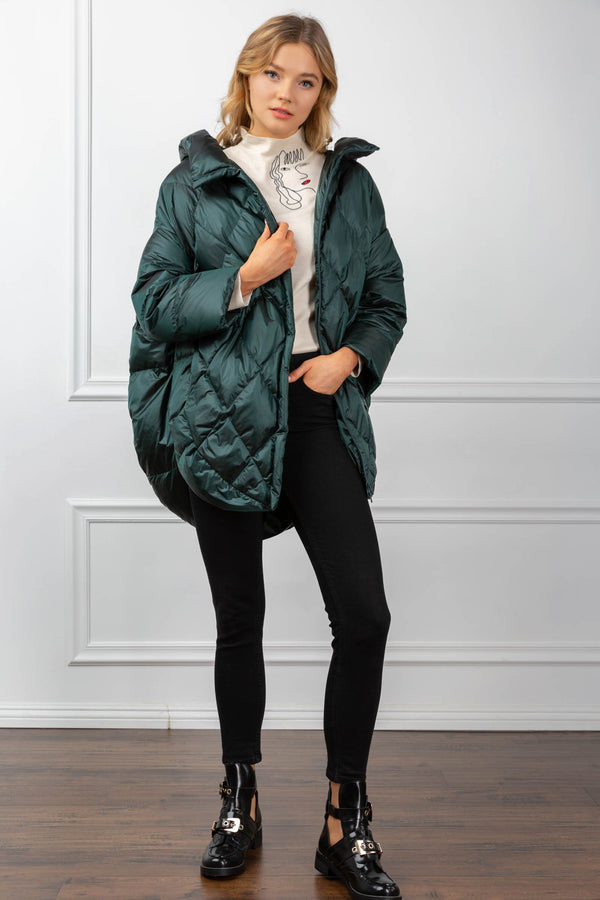 Shelby Quilted Coat Green