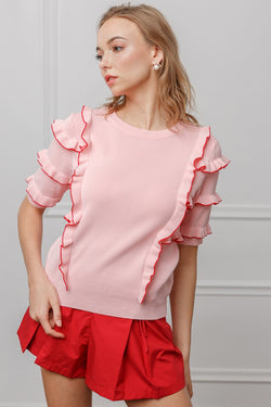 Sylvie Blouse in Knitwear by J.ING - an L.A based women's fashion line