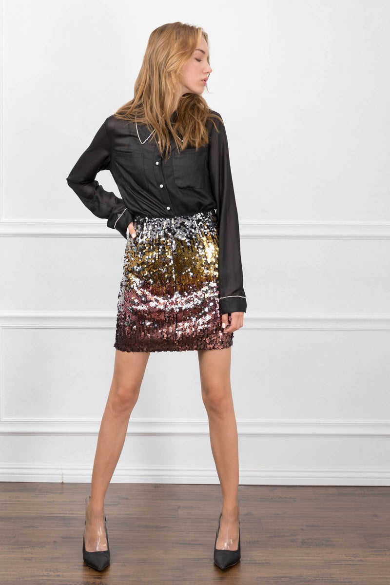 The Andrea Sequin Skirt in Skirts by J.ING - an L.A based women's fashion line