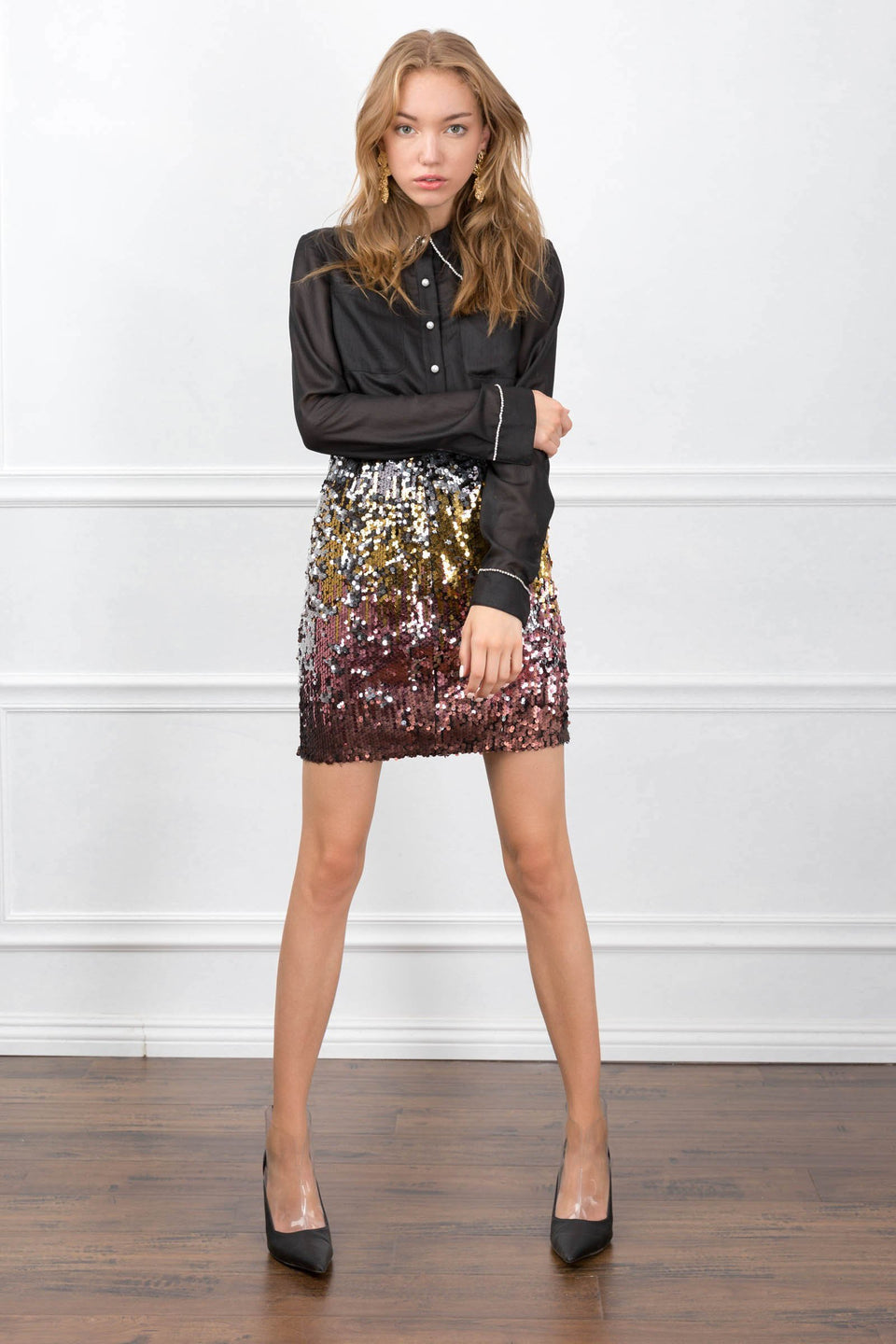 The Andrea Sequin Skirt