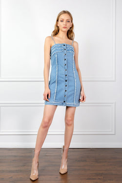 The Britney in Denim Dress