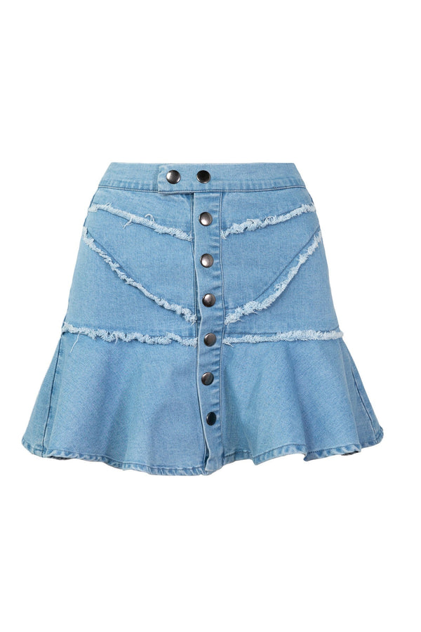 The Downtown Denim Skirt