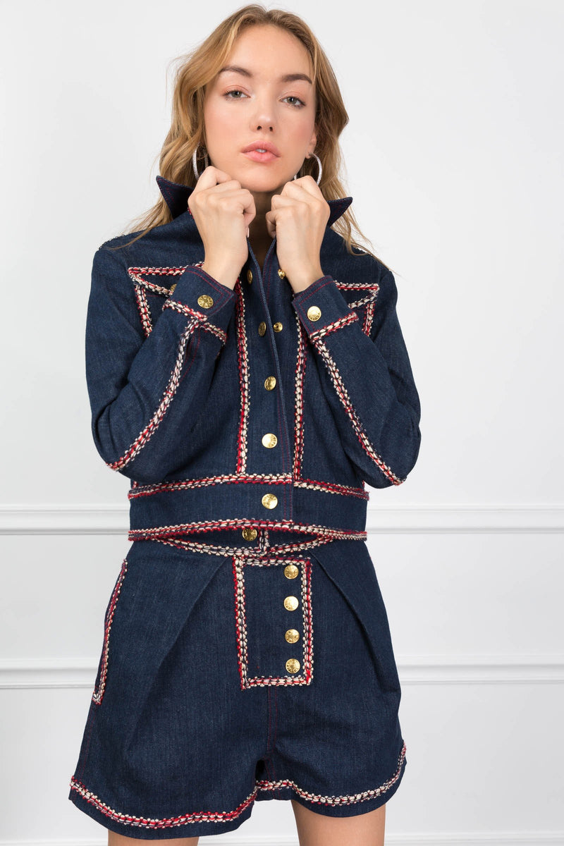 The Raelynn Denim Jacket in Coats & Jackets by J.ING - an L.A based women's fashion line