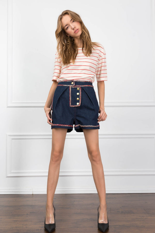 The Raelynn Denim Shorts in Pants by J.ING - an L.A based women's fashion line