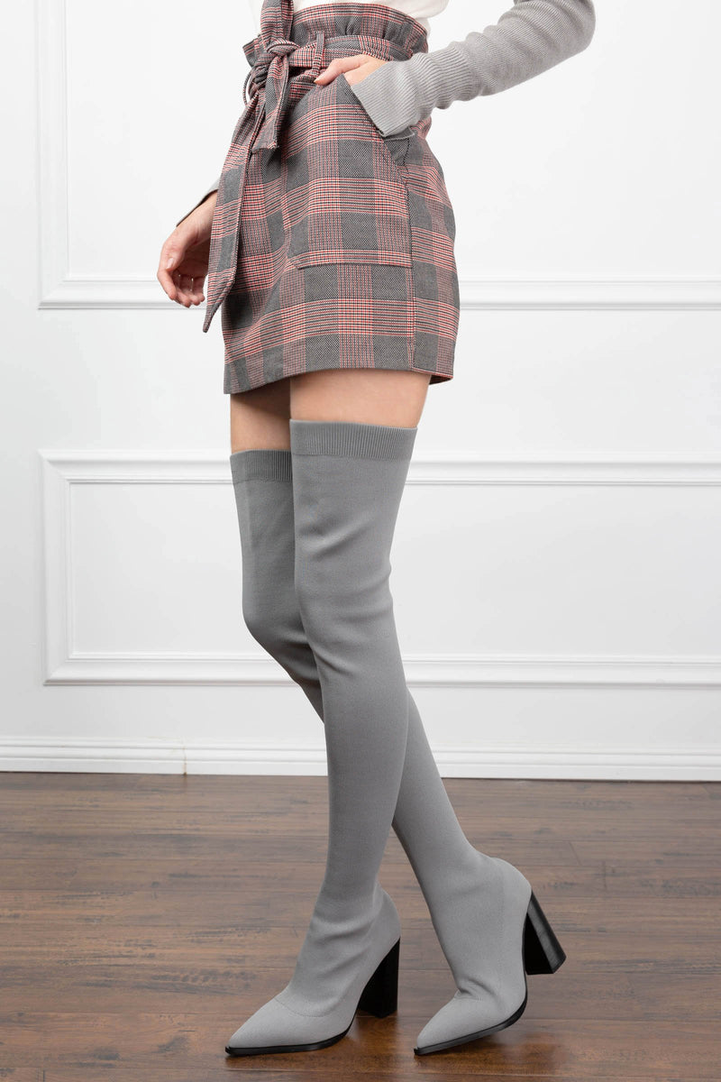 The Stella Boots Grey in SHOES by J.ING - an L.A based women's fashion line