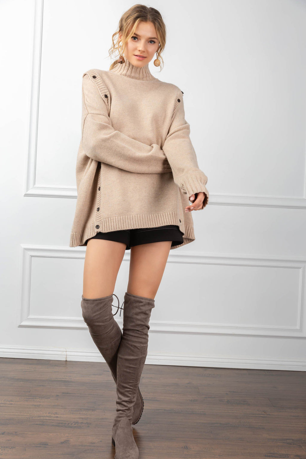 Theodora Sweater Tan