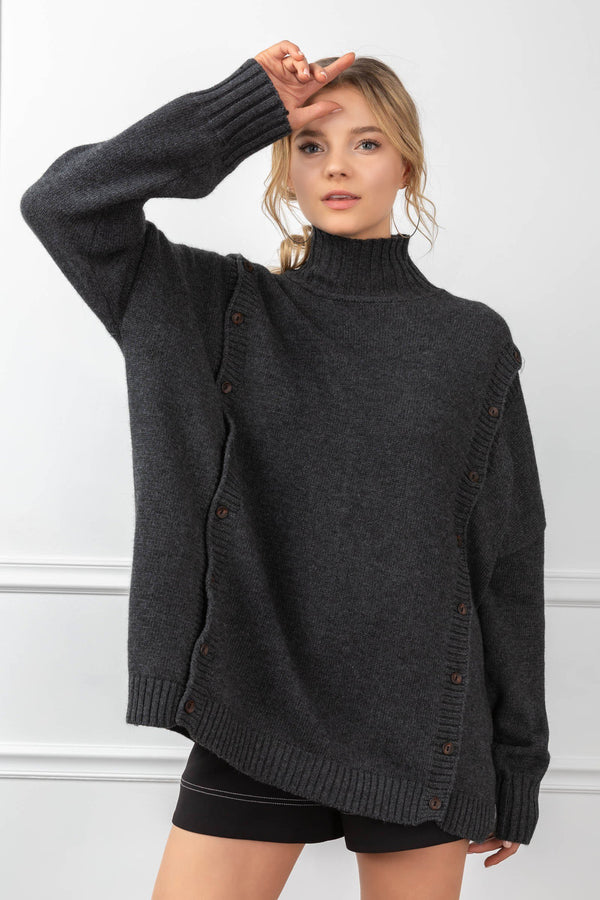 Theodora Sweater Charcoal