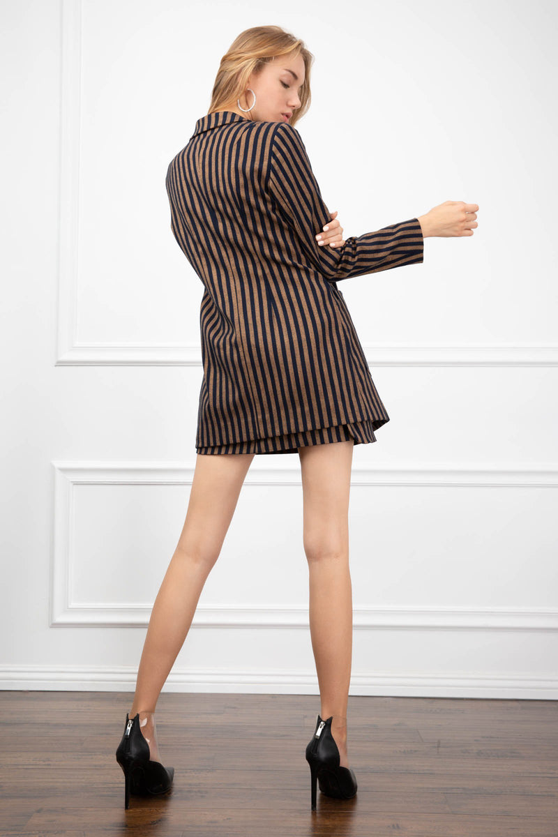 Virginia Striped Blazer in Coats & Jackets by J.ING - an L.A based women's fashion line