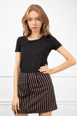 Virginia Striped Skirt in Skirts by J.ING - an L.A based women's fashion line