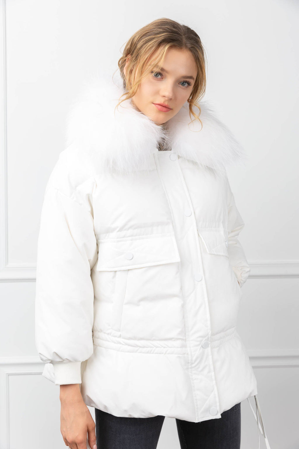 Acacia Parka White in Coats & Jackets by J.ING - an L.A based women's fashion line