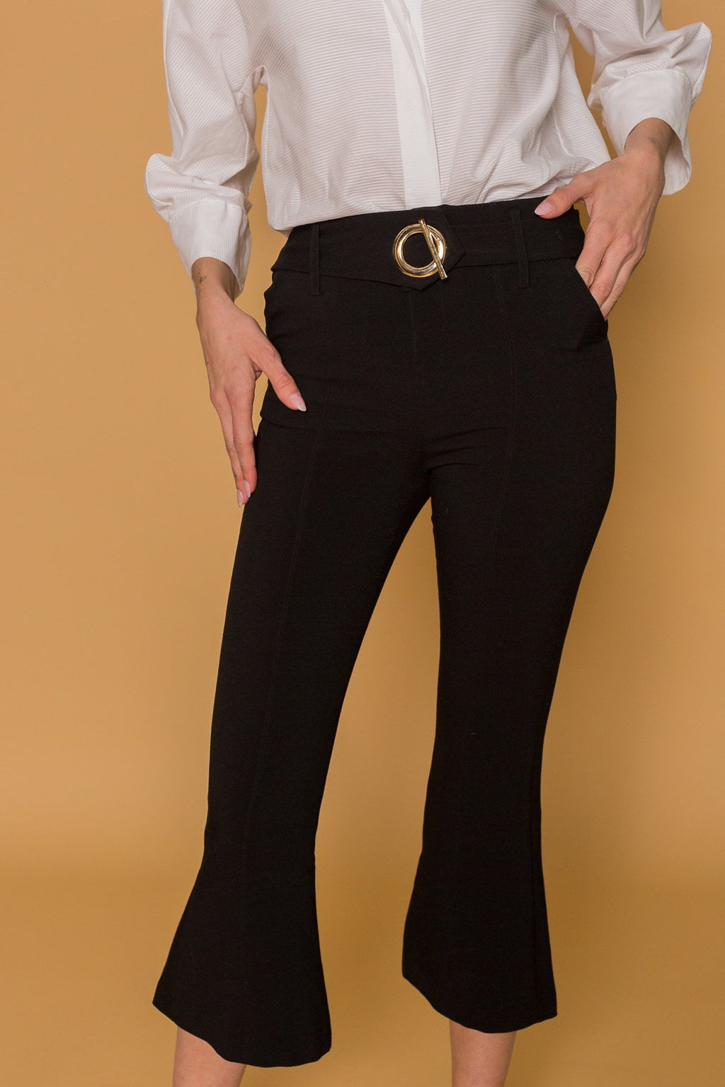 The 'O' Cropped Pants in Pants by J.ING - an L.A based women's fashion line
