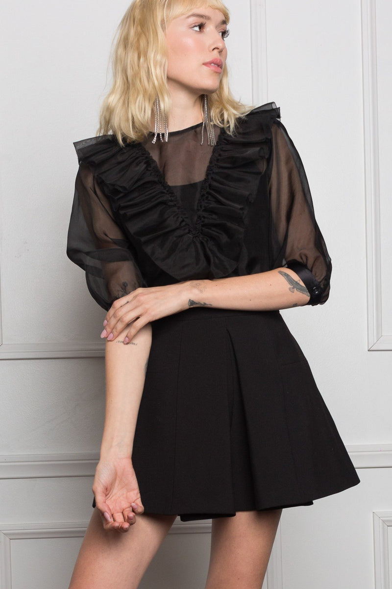 Valentina Ruffle Top in Tops by J.ING - an L.A based women's fashion line