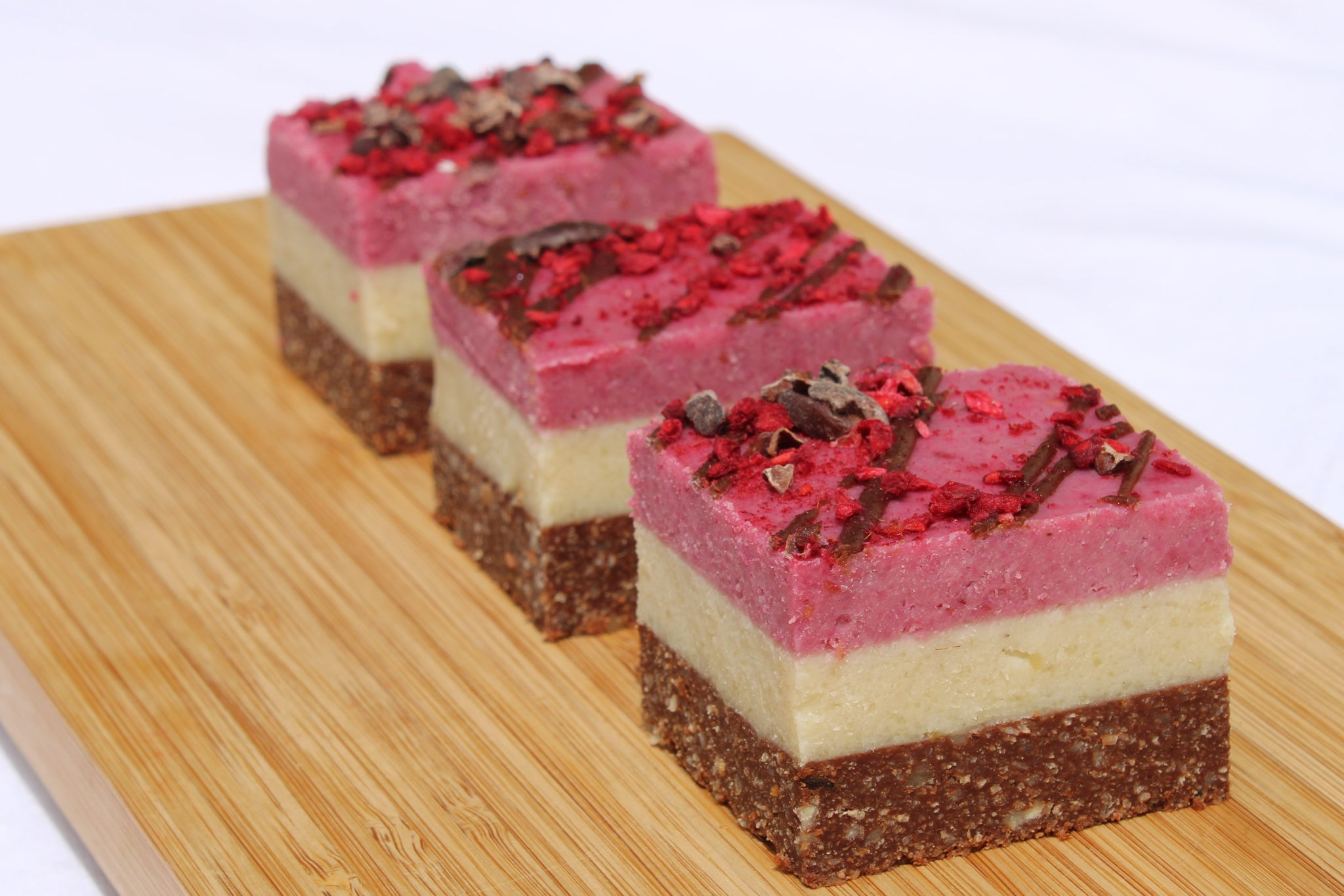 Raspberry White Chocolate Slice