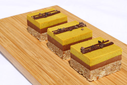 Banana Turmeric Chocolate Slice