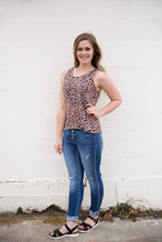 Load image into Gallery viewer, Leopard Woven Sleeveless Top
