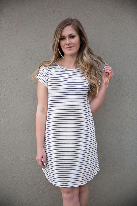 Tunic Dress with Back Buttons