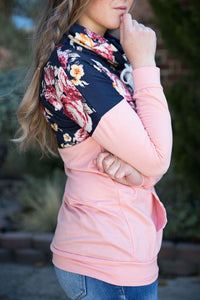 Floral Cowl Neck Pullover | 2 color options