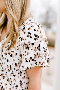 Speckled Tiered Sleeve Top