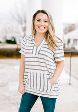 Load image into Gallery viewer, Multi Stripe V Neck Top | 2 color options