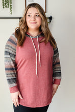Load image into Gallery viewer, Ombre Striped Hoodie | Curvy