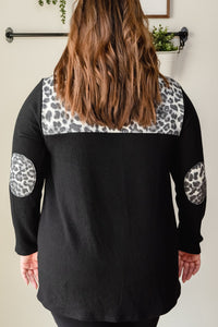 Leopard Side Twist Top  | Curvy