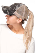 Load image into Gallery viewer, CC Ponytail- Messy Bun Baseball Hat