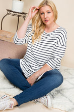 Load image into Gallery viewer, Striped Dolman Sleeve Top | Curvy