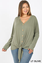 Load image into Gallery viewer, Button-Down Long Sleeve Top | Curvy ( 3 color options)