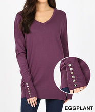 Load image into Gallery viewer, Classic V Neck Sweater | 3 Color Options